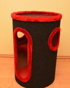 52. drapak 70 cm wysokości, kolor antracyt z czerwonym miśkiem