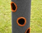01. drapak 100 cm ciemno-szary z pomaranczowym obiciem