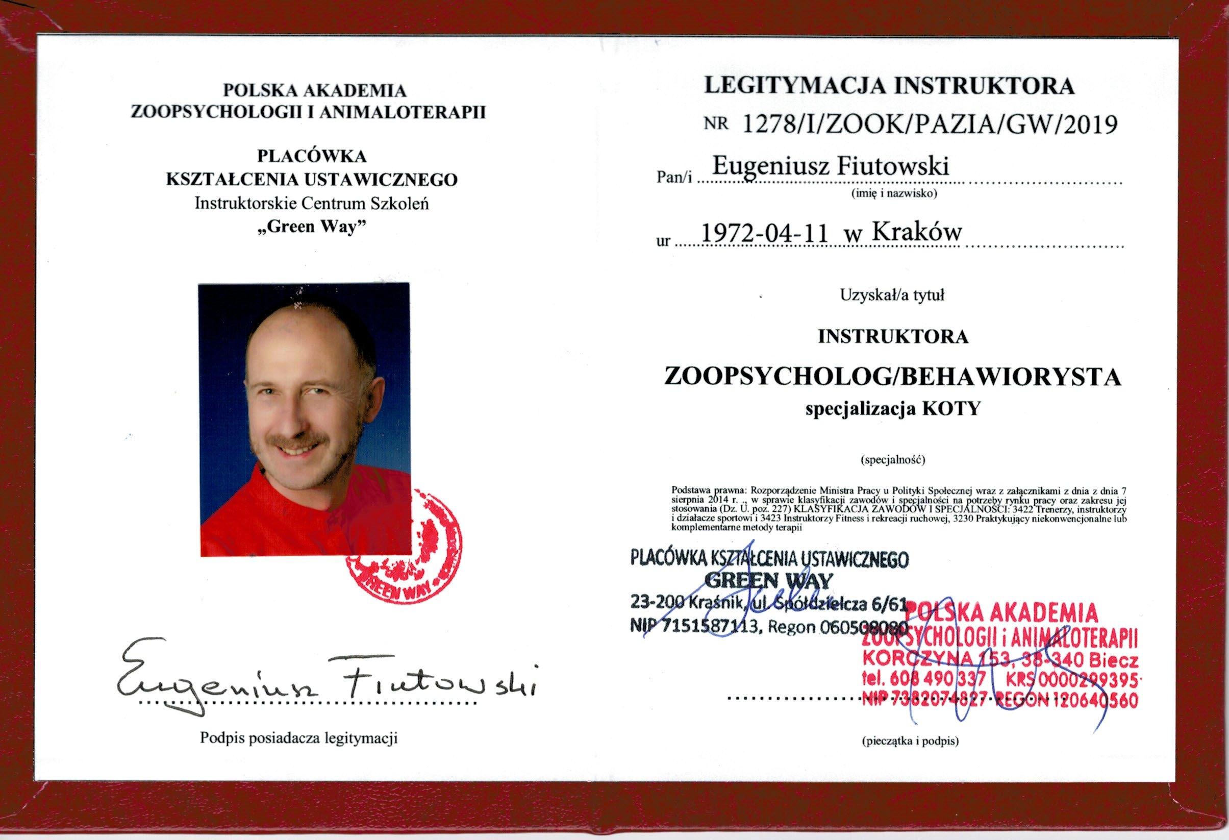 Legitymacja-ZOOPSYCHOLOG